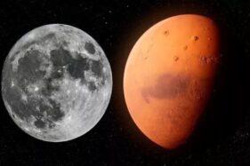 Ilustrasi kembaran bulan. (Bisnis-Istimewa)