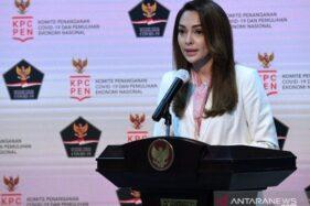Juru Bicara Satgas Penanganan Covid-19 dr. Reisa Broto Asmoro saat jumpa pers di Kantor Presiden, Jumat (18/9/2020) (Biro Pers Istana)