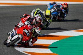 Mario Suryo Aji pembalap Astra Honda Racing Team berlaga di FIM CEV Moto3 Junior World Championship 2020. (Istimewa/Astra Honda Motor)
