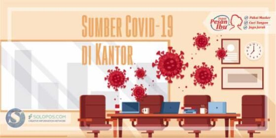 Infografis Covid-19 di Kantor (Solopos/Whisnupaksa)