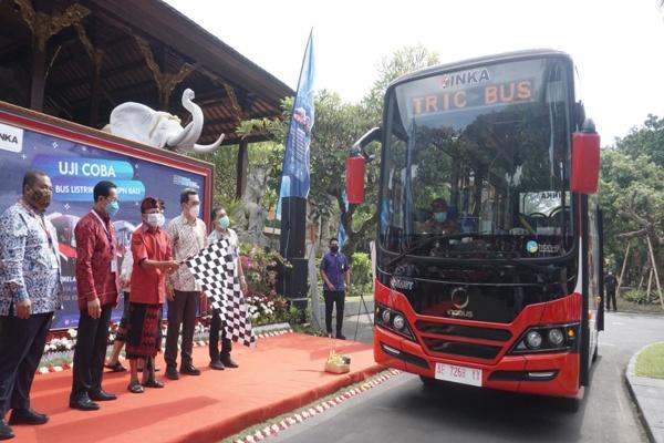 PT Inka Tampilkan Bus Listrik di Pameran Teknologi Dunia