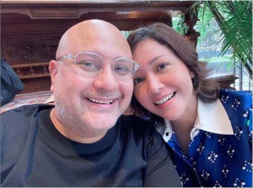 Maia Estianty dan suami. (Instagram/@maiaestiantyreal)