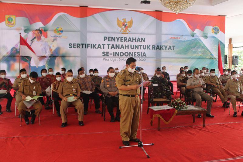 BPN Wonogiri Tuntaskan 7.825 Sertifikasi Tanah Dalam PTSL 2020