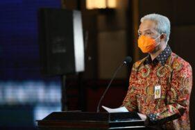 Gubernur Jateng, Ganjar Pranowo, saat membuka CJIBF di Hotel Gumaya, Kota Semarang, Rabu (11/11/2020). (Istimewa-Humas Pemprov Jateng)