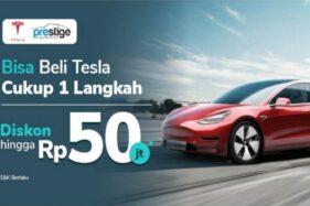 Ilustrasi promosi Tesla di Tokopedia. (Bisnis-Istimewa)