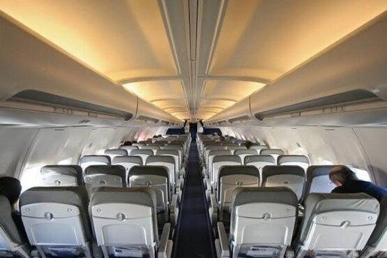 Ilustrasi kabin pesawat terbang. (Bisnis-Dok.)