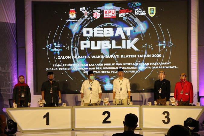 Jelang Debat II, KPU Klaten Tak Persoalkan Paslon Bawa Contekan