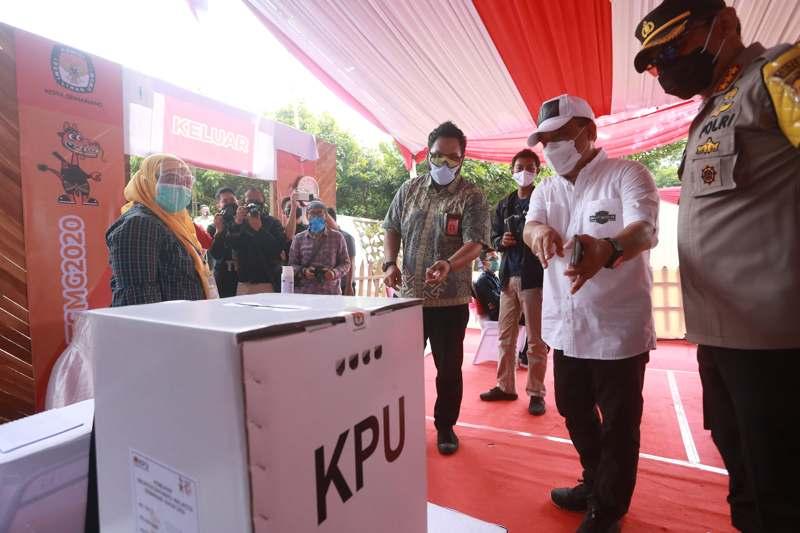 KPU Kota Semarang Gelar Simulasi Pencoblosan Pilkada 2020, Ada Yang Pingsan