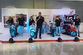 Suasana acara peluncuran All New Honda Scoopy secara virtual yang dilakukan Astra Motor Jateng, Sabtu (21/11/2020). (Semarangpos.com/Imam Yuda S.)