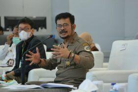 Mentan Syahrul Yasin Limpo (kanan) saat memberikan arahan langsung pada kegiatan Lokakarya Perhiptani, Selasa (24/11/2020). (Solopos.com/Kementan)