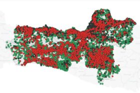 Peta sebaran Covid-19 di Jateng. (corona.jatengprov.go.id)