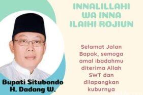 Bupati Situbondo Dadang Wigiarto meninggal dunia (Istimewa)