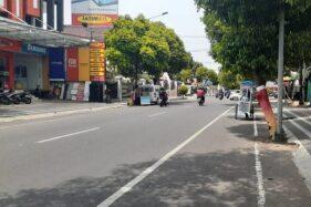 Kondisi Jl. Dr. Soetomo Kota Madiun, Kamis (27/11/2020). (Abdul Jalil/Madiunpos.com)