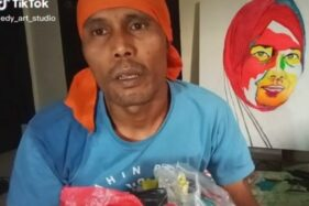 Manfaatkan Sampah Plastik, Edy Bikin Lukisan Wajah Orang dari Limbah