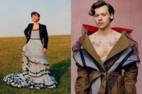 Harry Styles dalam Majalah Vogue. (Twitter/Voguemagazines)