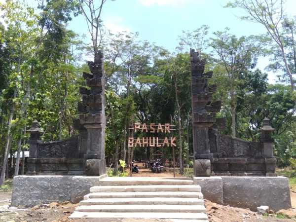 Lokasi Pasar Bahulak, Desa Karungan, Kecamatan Plupuh, Sragen. (Istimewa/Pemdes Karungan)