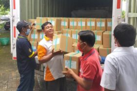 Logistik surat suara Pilkada Sukoharjo 2020 diterima KPU setempat pada Senin (23/11/2020) sore. (Istimewa/KPU Sukoharjo)
