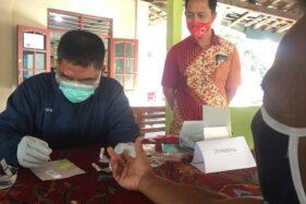 Kegiatan rapid test di Kecamatan Andong. (Boyolali.go.id)