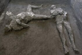Arkeolog Temukan Jasad Majikan & Budak Korban Erupsi 79 Masehi