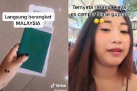 Pengin Coba Es ABC Upin-Ipin, Cewek Ini Langsung Terbang ke Malaysia