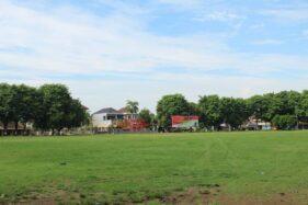 Kondisi lapangan di Alun-alun Satya Negara yang menjadi ikon Sukoharjo, Sabtu (31/10/2020). (Bony Eko Wicaksono/Solopos)