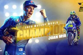 Joan Mir Juara Dunia Moto GP 2020 (Twitter/Motogp)