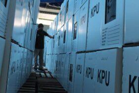 Kotak suara untuk Pilkada 2020 sudah disiapkan di gudang logistik KPU Boyolali. (Solopos-Bayu Jatmiko Adi)