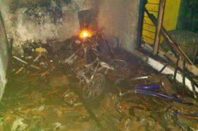 Puing-puing akibat kebakaran rumah warga di Kartasura, Sukoharjo, Jumat (27/11/2020) dini hari. (Istimewa-Damkar Sukoharjo)