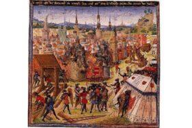 Lukisan yang menggambarkan Yerusalem direbut orang Kristen dalam Perang Salib Pertama. (Wikipedia.org)
