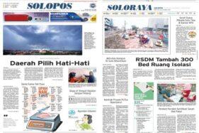 Koran Solopos edisi Senin (23/11/2020).