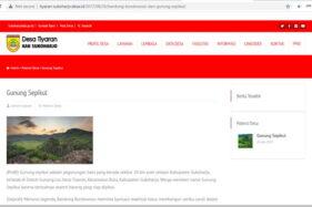 Pamer Potensi Unggulan Produk dan Tempat Wisata, Tiap Desa Di Bulu Sukoharjo Punya Website