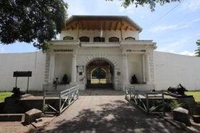 Kondisi bangunan Benteng Vastenburg dari sisi barat di Jl. Jenderal Sudirman, Solo, Selasa (1/12/2020). (Solopos/Nicolous Irawan)