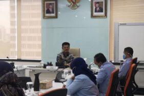 Menteri Syahrul mengadakan rapat koordinasi bersama para pejabat Eselon 1 dan 2 KKP (Kementerian Kelautan dan Perikanan) di Gedung Mina Bahari 1 Jakarta, Kamis (3/12/2020). (Istimewa)