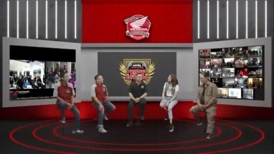 Talk Show Honda National Bikers Gathering yang digelar secara daring. (Astra Motor Jateng)