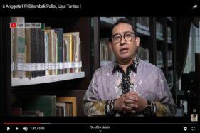 Pembubaran FPI Disebut Fadli Zon Penyempurna Politisasi Hukum Indonesia