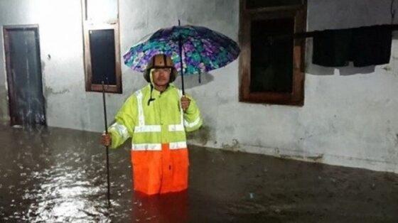 Banjir melanda Magetan, Jatim, setelah hujan deras mengguyur wilayah itu pada Sabtu (12/12/2020). (beritajatim.com)