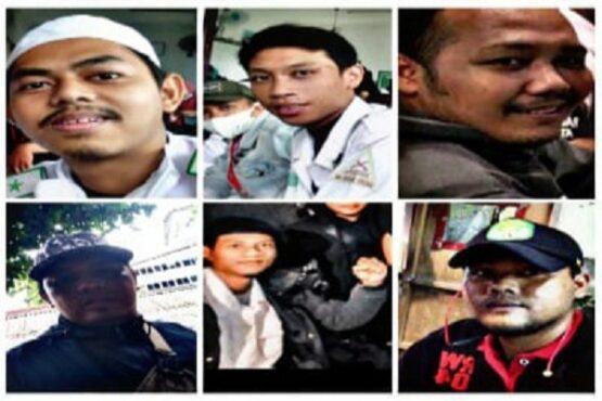 Enam laskar FPI yang dikabarkan diculik oleh orang tak dikenal, Senin 7/12/2020) dini hari. (Youtube.com)