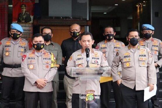 Kabareskrim Polri Komjen Pol. Listyo Sigit Prabowo memberikan keterangan pers. (Bisnis-PMJ News)