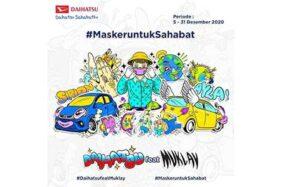 Daihatsu Feat Muklay Berbagi Masker Gratis, Ini Caranya!