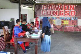 Superman hingga Prajurit Topeng Ireng Sambut Pemilih di TPS Boyolali