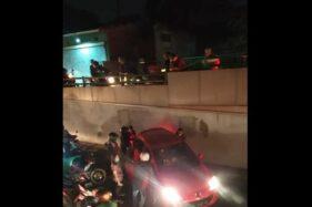 Gelap Gulita, 2 Malam Berturut-Turut Terjadi Laka Mobil Tabrak Median Jalan Underpass Makamhaji Sukoharjo