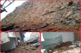 2 Jam Hujan Lebat, Rumah Warga Kismantoro Wonogiri Tertimbun Longsor