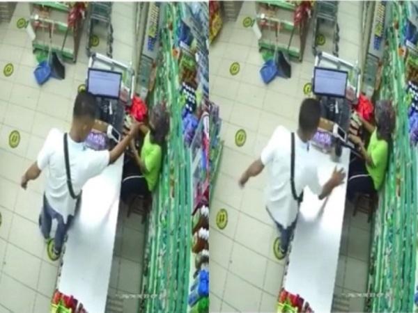 Video tangkapan layar laki-laki tampar kasir. (Instagram/smart.gram)