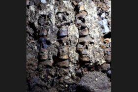 Menara tengkorak suku Aztec dan prajurit yang dikorbankan. (Reuters)