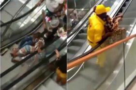 Tangkapan layar video warga Kamerun kunjungi mall. (Instagram/makassar_info)