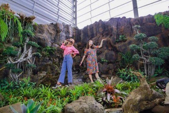 Banyak spot foto untuk wisatawan di Batu Love Garden (Baloga), Malang, Jawa Timur. (Istimewa/Instagram Batu Love Garden).