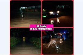 Foto banjir di Nguntoronadi, Sabtu (5/12/2020). (Istimewa/BPBD Wonogiri)