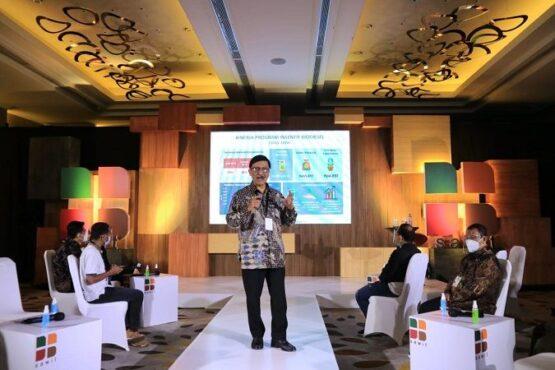 Direktur BPDPKS, Eddy Abdurrachman, dalam acara Media Gathering BPDP Sawit 2020 di Pullman Hotel Jakarta Pusat, DKI Jakarta, Kamis (17/12/2020) pagi. (Istimewa/BPDPKS)