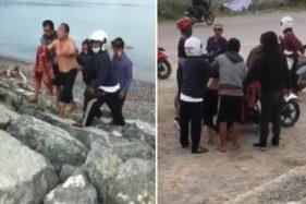 Video Viral Pria Diserang Buaya saat Renang di Laut