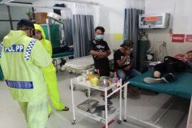 Rem Blong di Turunan, 2 Pemotor Asal Sukoharjo Terpental ke Perkebunan di Dekat Candi Cetho